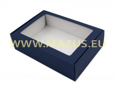 Mėlyna matinė dėžė su langeliu