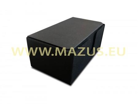 Juoda dėžutė iš juodo gofruotojo kartono