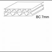 Penkiasluoksnis gofruotasis kartonas, BC banga