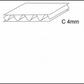 Trisluoksnis gofruotasis kartonas, C banga