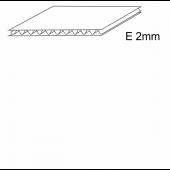 Trisluoksnis gofruotasis kartonas, E banga