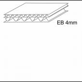 Penkiasluoksnis gofruotasis kartonas, EB banga