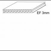 Penkiasluoksnis gofruotasis kartonas, EF banga