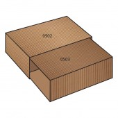 FEFCO 0505 dėžės modelis