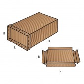 FEFCO 0615 dėžės modelis