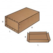 FEFCO 0616 dėžės modelis