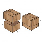 FEFCO 0714 dėžės modelis