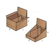 FEFCO 0716 dėžės modelis (SHOW BOX)