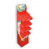 Prekybinis-reklaminis stovas iš kartono su lentynomis